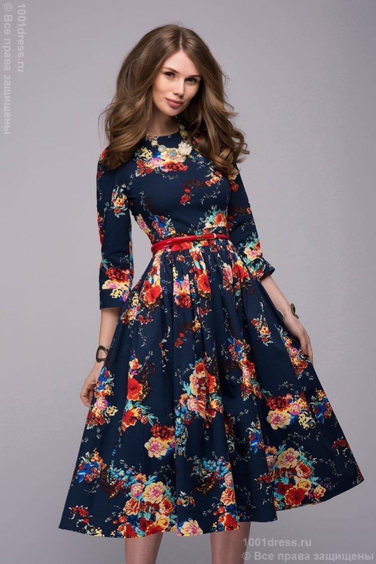 Модные платья с рукавами