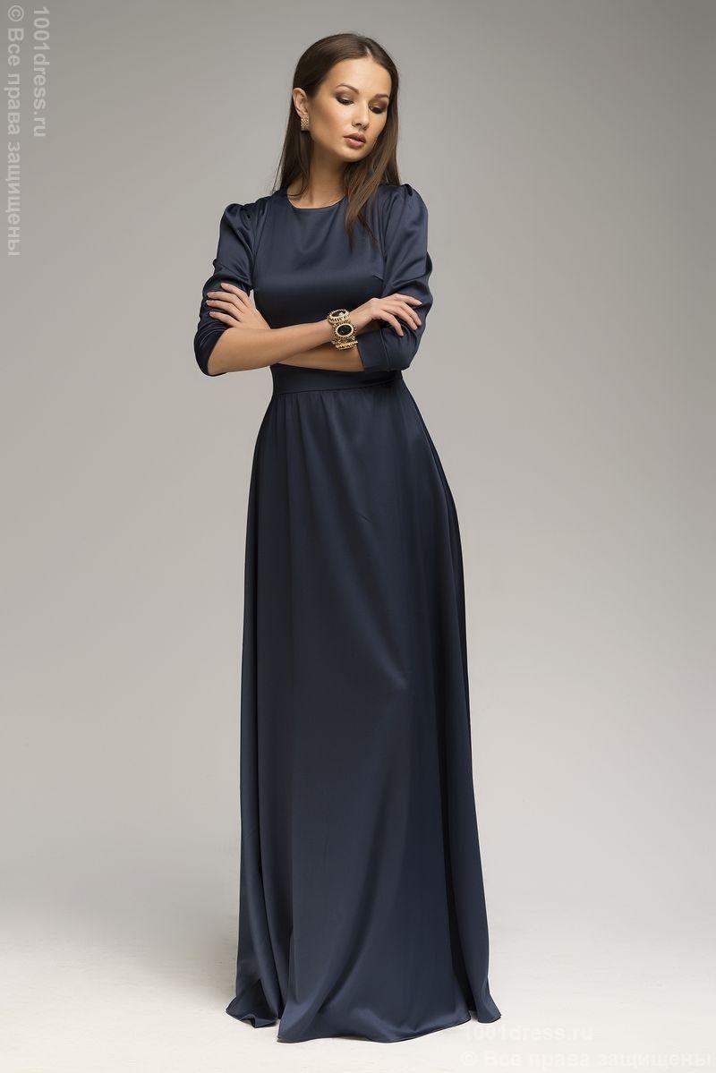 a459c881a049 Вечернее платье в пол синего цвета   DRESS STORE - интернет-магазин ...