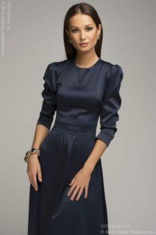 Вечернее платье в пол синего цвета DM00206BL-2