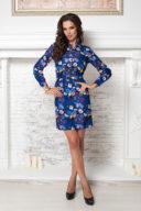 Заказать синее платье мини с графичным принтом с бесплатной доставкой по Воронежу