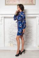 Купить синее платье мини с графичным принтом в магазине женской одежды в Воронеже