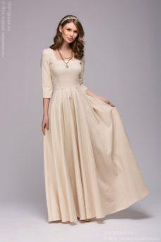 Бежевое платье на свадьбу купить в Воронеже