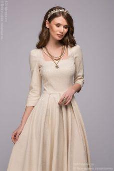 Бежевое платье на свадьбу купить в интернет-магазине