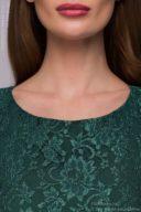 купить Длинное изумрудное платье с разрезом на юбке в магазине женской одежды в Воронеже