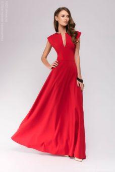 Длинное красное платье с глубоким декольте купить в Воронеже