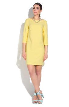 cacd965a5ee ... Желтое платье мини свободного кроя с рукавами 3 4 купить в Воронеже