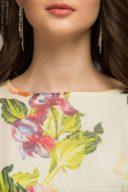 Купить Платье миди с бордовой юбкой и цветочным принтом в магазине женской одежды в Воронеже
