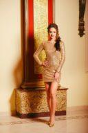 Золотое платье мини с пайетками купить в Воронеже