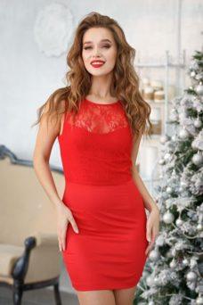 Платье-трансформер 2 в 1 красного цвета купить в интернет-магазине