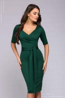 Зеленое платье с вырезом купить в Воронеже