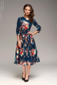 Синее платье миди купить в Воронеже