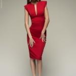 Красное платье-футляр DM00015RD-1