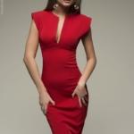 Красное платье-футляр DM00015RD-2