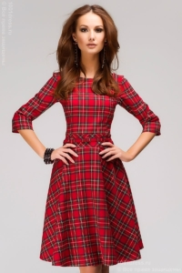 Купить красное платье в клетку в Воронеже