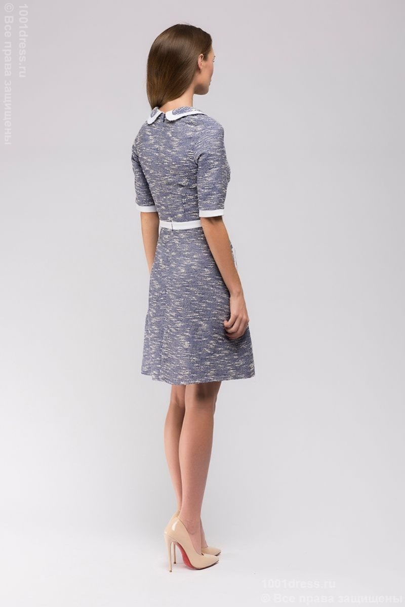 Купить короткое синее платье с бесплатной доставкой по Воронежу