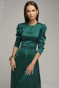 Вечернее платье в пол изумрудного цвета купить