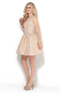 Купить медно-золотое платье baby doll в Воронеже