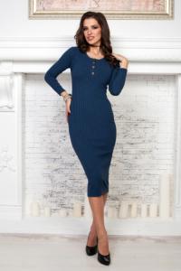 Синее платье лапша длины миди купить в Воронеже