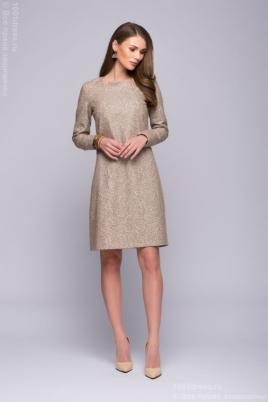 Купить бежевое платье в интернет-магазине