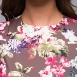 Длинное платье шоколадного цвета с цветочным принтом dm00206fc-4