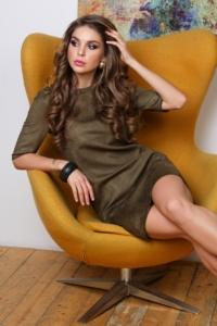 Платье цвета хаки купить в интернет-магазине