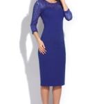Синее коктейльное платье длины миди ds00074bl-2