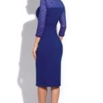 Синее коктейльное платье длины миди ds00074bl-3