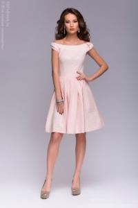 Заказать Короткое платье нежно-розового цвета с бантиками на плечах с бесплатной доставкой по Воронежу