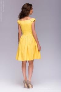 Заказать Короткое платье желтого цвета с бантиками на плечах с бесплатной доставкой по Воронежу