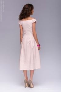 Заказать Нежно-розовое платье миди с бантиками на плечах с бесплатной доставкой по Воронежу