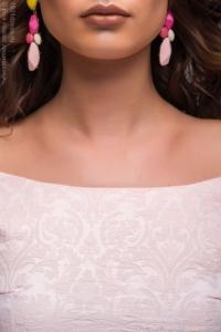 Купить Нежно-розовое платье миди с бантиками на плечах в магазине женской одежды в Воронеже