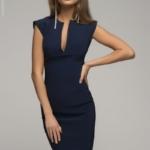 Синее платье-футляр dm00015bl-1