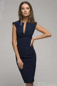 Синее платье-футляр купить в Воронеже