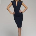 Синее платье-футляр dm00015bl-2
