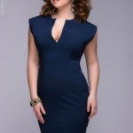 Синее платье-футляр dm00015bl-3