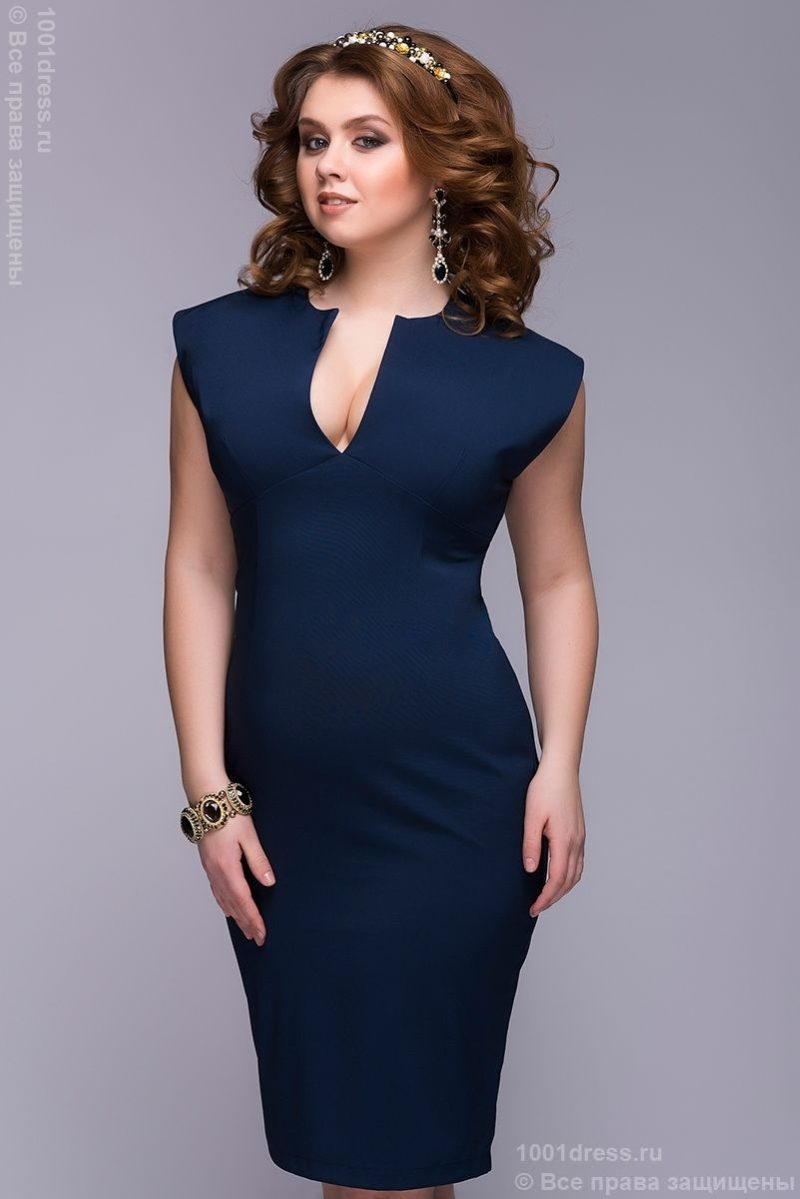 Заказать Синее платье-футляр с бесплатной доставкой по Воронежу