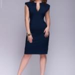 Синее платье-футляр dm00015bl-4