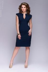 Купить Синее платье-футляр в магазине женской одежды в Воронеже