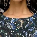 Синее платье миди с рукавом «летучая мышь» dm00234bl-6