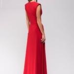 Длинное красное платье с глубоким декольте dm00697rd-3