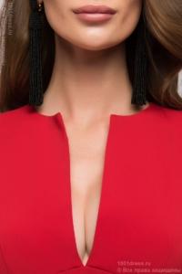 Купить Длинное красное платье с глубоким декольте в магазине женской одежды в Воронеже