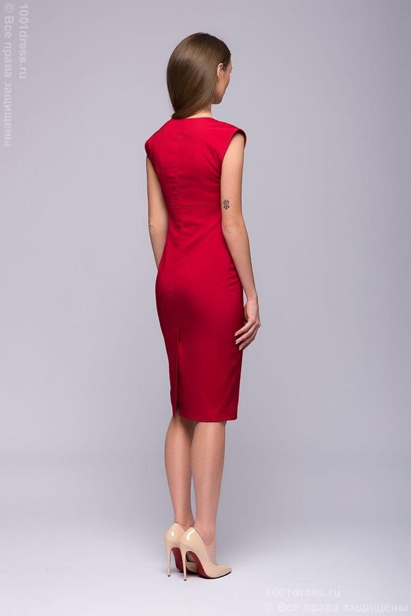 красное платье-футляр DM00015RD-5