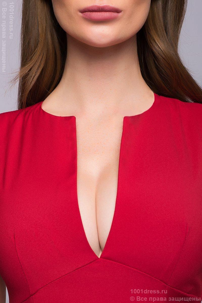 красное платье-футляр DM00015RD-6