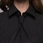 Темно-синее платье-футляр с имитацией галстука dm00455db-4