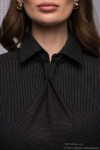 Купить Темно-синее платье-футляр с имитацией галстука в магазине женской одежды