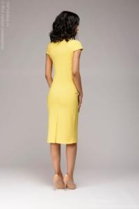 Купить Желтое платье-футляр с короткими рукавами в магазине женской одежды в Воронеже