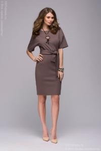 """Платье цвета мокко с рукавом """"летучая мышь"""" купить в интернет-магазине"""
