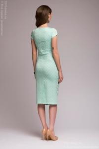 Заказать Платье-футляр мятного цвета в горошек с бесплатной доставкой по России