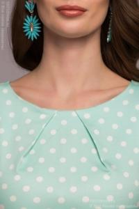 Купить Платье-футляр мятного цвета в горошек в магазине женской одежды в Воронеже