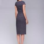 Платье-футляр темно-синего цвета с принтом «ромб» dm00380db-4